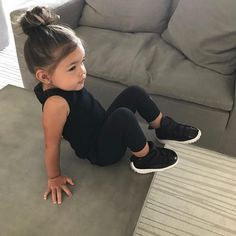 Cute Baby Girl Outfits, Toddler Girl Outfits, Cute Baby Clothes, Babies Clothes, Toddler Girl Style, Little Girl Fashion, Fashion Kids, Toddler Fashion, Cute Mixed Babies