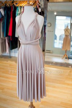 chic wrap twisted long chiffon bridesmaid dress