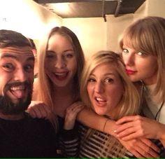 Taylor Swift e Ellie Goulding vão ao show da dupla Broods em Los Angeles 05.03.2015 <3 <3