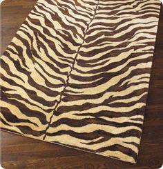 zebra painted dropcloth rug tutorial