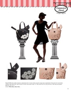 Court Couture 2014 Catalog Pg. 6 Tennis Bags, Catalog, Couture, Floral, Fashion, Moda, Fashion Styles, Flowers, Brochures
