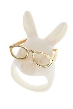 nerd rabbit ring. I want this lol