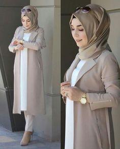Stylish Hijab, Modest Fashion Hijab, Modern Hijab Fashion, Muslim Women Fashion, Hijab Fashion Inspiration, Islamic Fashion, Fashion Outfits, Hijab Fashionista, Islamic Clothing