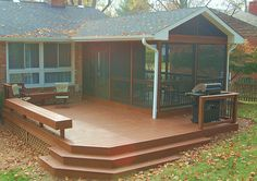 Brainstorming: Like the combo of the screen porch with the deck, needs more vertical interest and green though