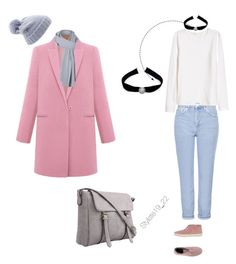 Pink Coat by nadine-schokobon-bala on Polyvore featuring polyvore, мода, style, H&M, Topshop, Victoria, Sirius and Collection XIIX