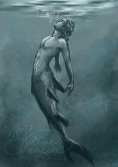 Merman charcoal artwork totally have to try this!