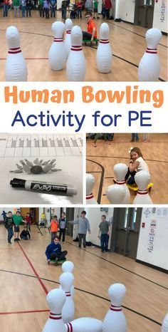This Human Bowling activity shared by PE Teachers at Central Elementary School is great for cross curricular and teamwor Central Elementary School, Elementary Physical Education, Physical Education Activities, Elementary Schools, Pe Games Elementary, Health Education, Movement Activities, Higher Education, Special Education