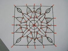 Dentelles d'abord: Tutorial 2: Mantle Bookmark (needle lace geometric)