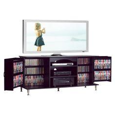 Premier TV Stand with Media Storage - Black - Prepac