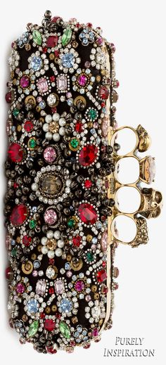 Alexander McQueen Jeweled Knuckle Box Clutch | Purely Inspiration Clothing, Shoes & Jewelry : Women : Handbags & Wallets : http://amzn.to/2jBKNH8