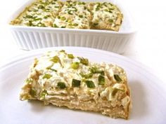 Skinny Chicken Enchilada Casserole with Green Chile Sauce. It's luxuriously rich, a bit spicy and so delicious! Each slice has 289 calories, 5 grams of fat and 7 Weight Watchers POINTS PLUS. http://www.skinnykitchen.com/recipes/skinny-chicken-enchilada-casserole-with-green-chile-sauce/
