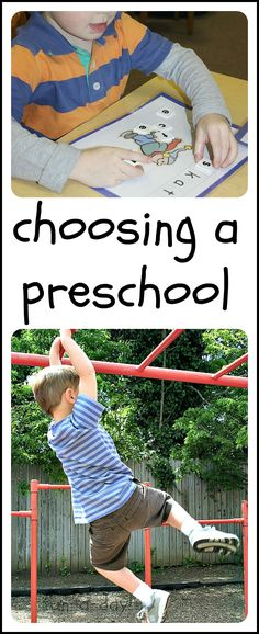 Choosing a Preschool from www.fun-a-day.com -- 7 important factors to consider when picking a preschool for your child.  From a seasoned early childhood educator