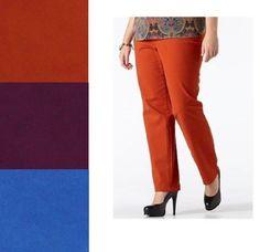 Terra /& Sky Women/'s Plus Grey Flannel Cropped Chino Boyfriend Pants 14W 24W