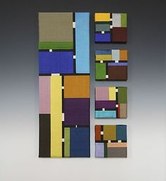 Color Story: Quintet by Sonya Lee Barrington: Fiber Wall Art available at www.artfulhome.com