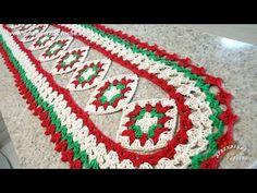 Caminho de Mesa em Crochê Cores do Natal - Aprendendo Croche - YouTube