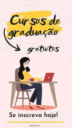 Melhores cursos de graduação gratuitos pelo MEC - Blog Sendo Útil Student Life, Student Work, Study Organization, Life Hacks For School, Study Planner, English Tips, Learning Italian, Study Hard, Study Notes