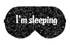 I'm sleeping Sleep Eye Mask Masks Sleeping Blindfold Night Travel Eyes cover covers patch patches accessory Eyewear Blindfold Eyeshade by venderstore on Etsy