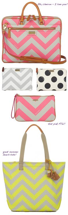 #Brahmin, #accessories, #neon #pink #chevron