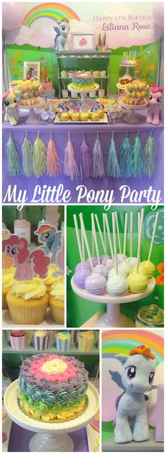 You need to see this gorgeous pastel My Little Pony party! See more party ideas at CatchMyParty.com!:
