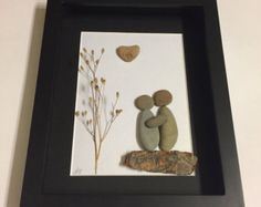 Pebble Art Anniversary Gift, Couples Engagement Gift, Pebble Art Picture, Engagement Gifts, Pebble Art Gift, COUPLE'S Gifts, Personalized