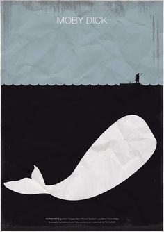Moby Dick poster - inspiration for custom birthday invite
