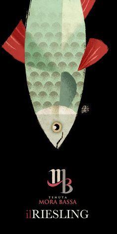 Tenuta Mora Bassa - Wine Label Illusteations by Riccardo Guasco