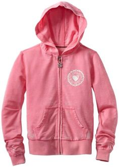 68% Off was $34.00, now is $11.02! Southpole - Kids Girls 7-16 Light weight soft knit full zip hoodie with heart detail at chest + Free Shipping