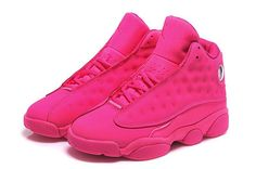 Womens Air Jordan 13 GS All Pink Girls Cheap For Sale from Reliable Big Discount ! Womens Air Jordan 13 GS All Pink Girls Cheap For Sale suppliers. Womens Air Jordan 13 GS All Pink Girls Cheap For Sale and mor Pink Jordans, Jordans Girls, New Jordans Shoes, Retro Jordans 13, Real Jordans, Custom Jordans, White Jordans, Jordan Shoes Girls, Air Jordan Shoes