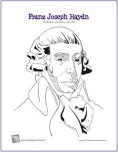 Franz Joseph Haydn | Composer Coloring Page - http://makingmusicfun.net/htm/f_printit_free_printable_worksheets/haydn-coloring-page.htm
