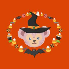 Shop Shellie May Halloween Witch disney t-shirts designed by caseyandthebear as well as other disney merchandise at TeePublic. Duffy The Disney Bear, Disney Love, Disney Merchandise, Halloween Stuff, Nerdy, Art Drawings, Witch, Scrapbook, Friends