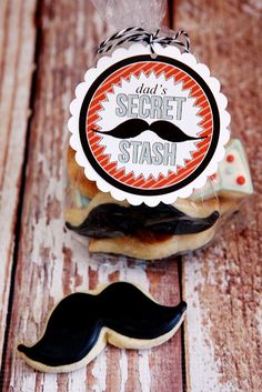 Dad's Secret Stash - attach to Dad's favorite snack! - free printable