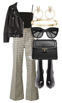 """""""Untitled #5138"""" by olivia-mr ❤ liked on Polyvore featuring Topshop, Marc Jacobs, Acne Studios, Le Specs, Dolce&Gabbana, Yves Saint Laurent and Witchery"""