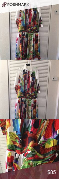 long sleeve dress with unique prints Size S, but more like size L, I wear size M, but to me still too big, Dresses Long Sleeve