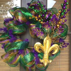 My Mardi Gras Wreath