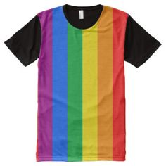 LGBT Pride Flag / Rainbow Flag All-Over Print T-shirt