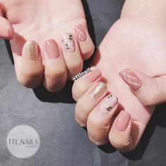 Cute Acrylic Nails, Cute Nails, Bride Nails, Short Nails Art, Nail Patterns, Pretty Nail Art, Nail Accessories, Nail Swag, Square Nails