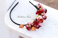 Цветочно-ягодный ободок