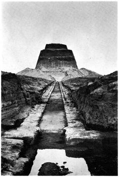 The pyramid of Meidum, Egypt c 1940 The pyramid at Meidum is thought to originally have been built for Huni, the last pharaoh of the Third Dynasty, and was continued by Sneferu. The architect was a successor to the famous Imhotep, the inventor of the stone built pyramid. The collapse of the pyramid is likely due to the modifications made to Imhotep's pyramid design as well as the decisions taken twice during construction to extend the pyramid. Because of its unusual appearance, the pyramid…