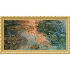 Shop for Claude Monet 'The Water-Lily Pond, 1917-19' Framed Art Print (43 x 23-inch). Get free delivery at Overstock.com - Your Online Art Gallery Store! Get 5% in rewards with Club O!