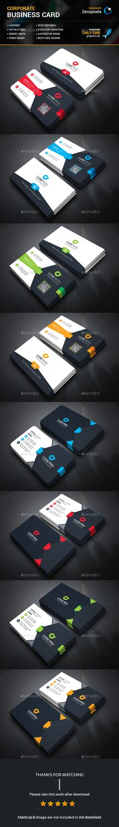 Modern Business Card Bundle - Business Card Template PSD. Download here: http://graphicriver.net/item/modern-business-card-bundle/16361096?ref=yinkira