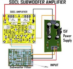100W Subwoofer Amplifier Circuit Diagram | Subwoofer Amplifier 100w Output With Transistor In 2018 Audio
