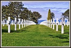 Normandy American Cemetary & Memorial in Normandy, France. All the WWII vets who never made it home from France. I was so humbled, I cried.