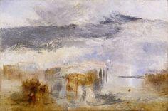 Joseph Mallord William Turner (1775‑1851)  Venice - Sunset, a Fisher