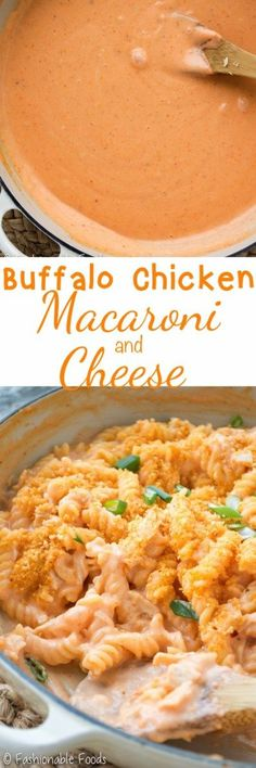 My new favorite way to enjoy the flavors of buffalo chicken! This stovetop buffalo chicken macaroni and cheese is sure to please all chicken wing lovers. It's spicy, creamy, crunchy, and oh-so-comforting!