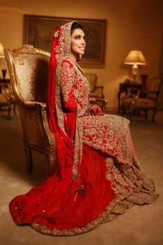 Sana safinaz bridal. If it was red and green instead of peach