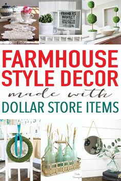 Stop by the dollar store and grab everything you need to fill your home with charming farmhouse decor - without breaking the bank!