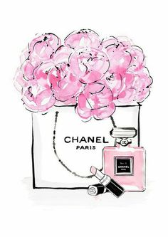 chanel, flowers, and pink Bild