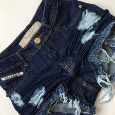 590814d1b8 Short Jeans Degrant Cintura Alta Original Denim