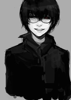 Rwliness Doodle The beautiful angelic smile of Kaneki from the spoilers. Of course it would look even more angelic with his eyes opened.