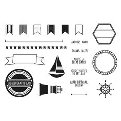 Settin' Sail Photopolymer Stamp Set~ Life Is Better At the Beach $13.95